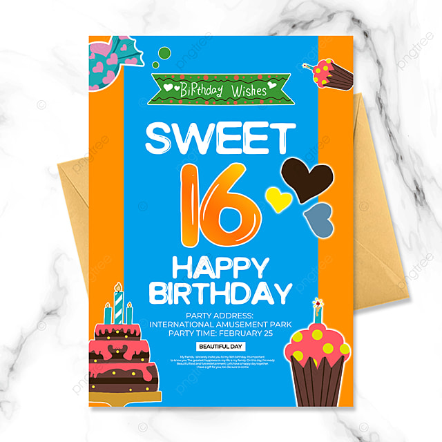 creative birthday party invitation template