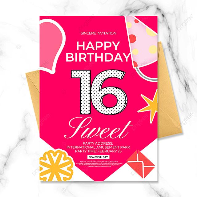 creative cartoon birthday party invitation