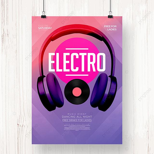 creative fashion color gradient electronic music poster
