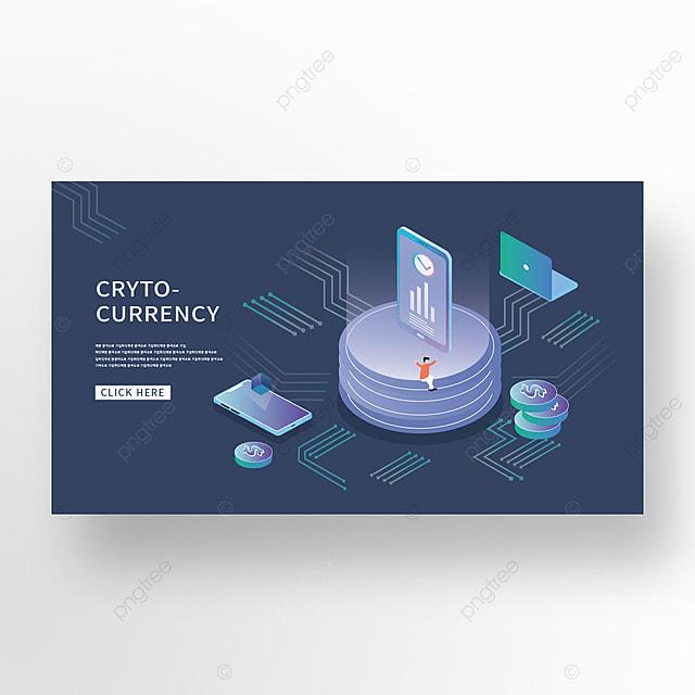 creative financial technology data isometric banner