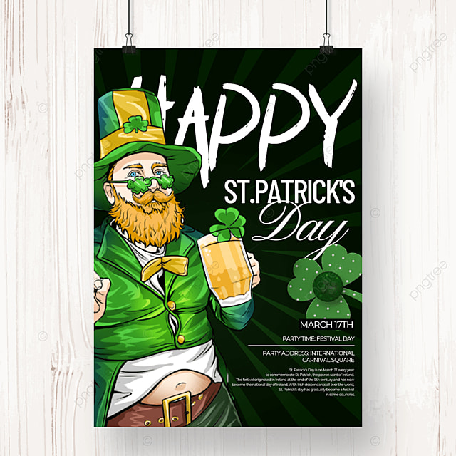 creative st patricks day beer poster