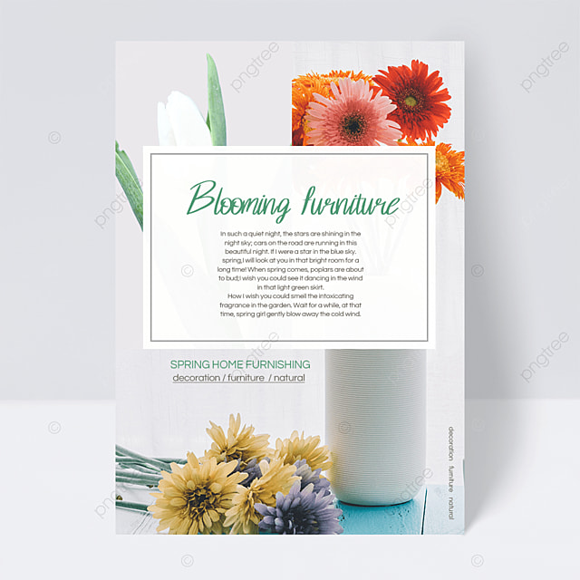elegant spring furniture flyer