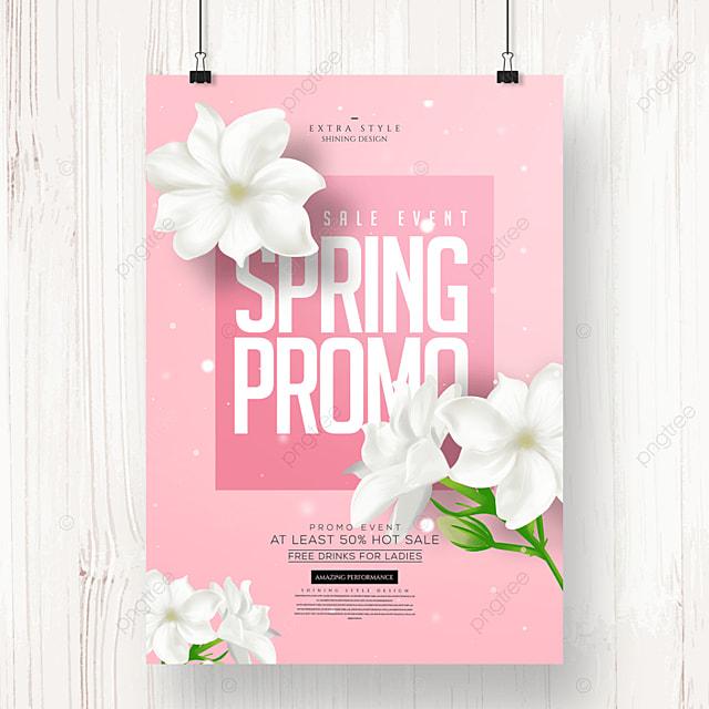 fashion color spring flower poster