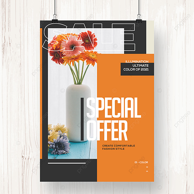 fashion creative color block geometric promotion poster