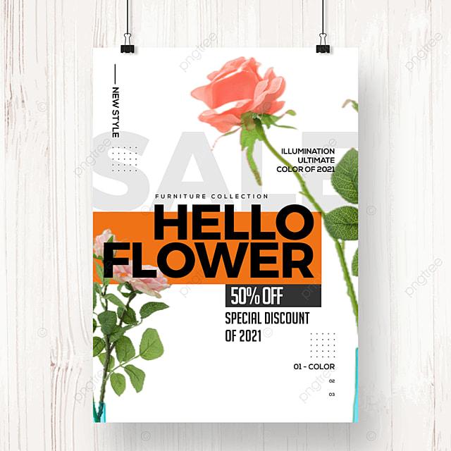 fashion creative geometric color block promotion poster