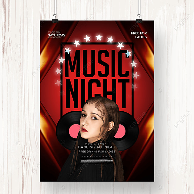fashion personality electronic music party poster