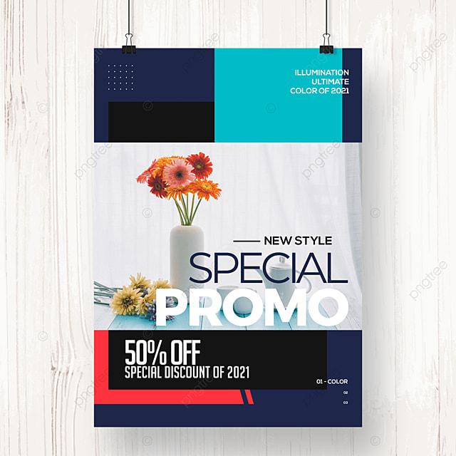 geometric color block fashion creative promotion poster