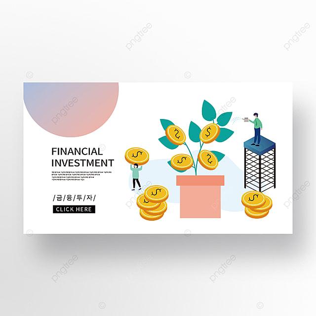isometric creative financial blue powder gradient financial management banner