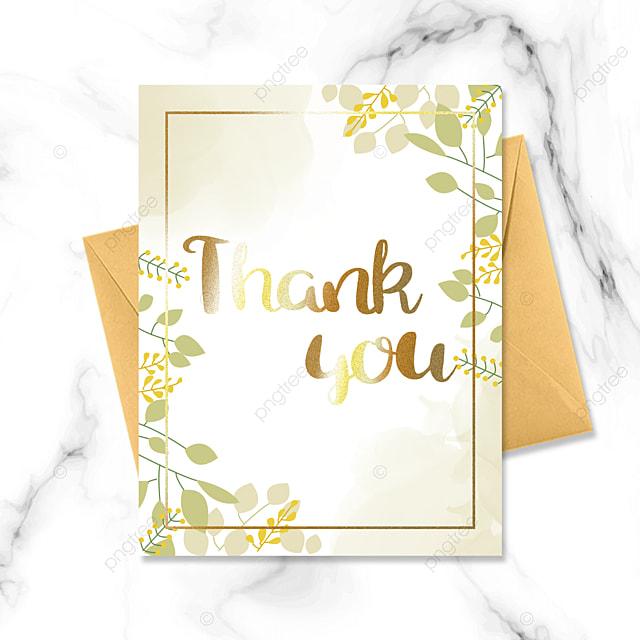light green leaf thank you card greeting card