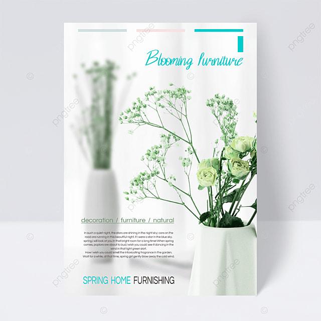 light green spring furniture flyer