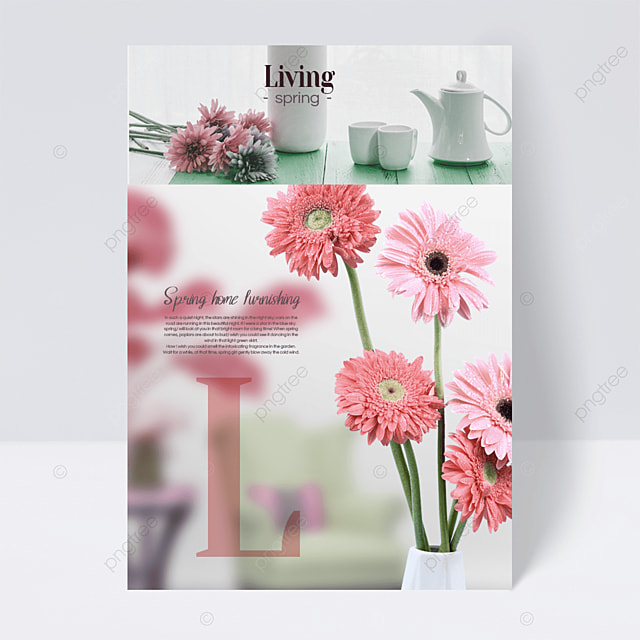 light pink spring furniture flyer