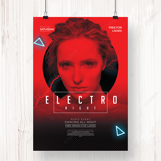 personality creative electronic music party poster