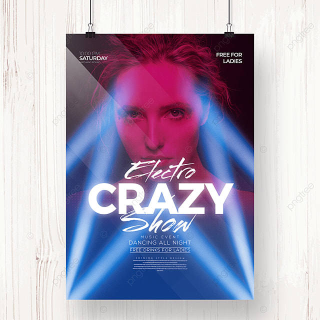 personalized fashion light electronic music party poster