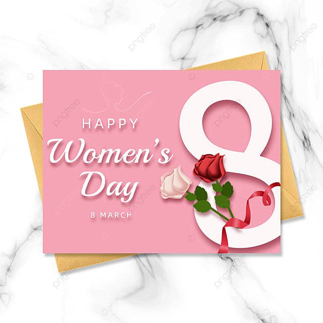 pink gradient womens day holiday template