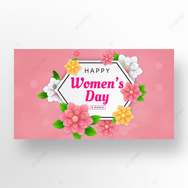 pink womens day template