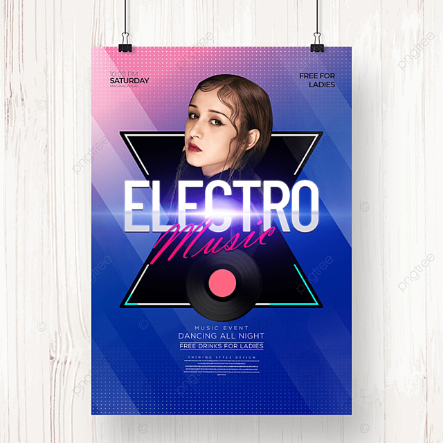 simple and stylish electronic music party poster