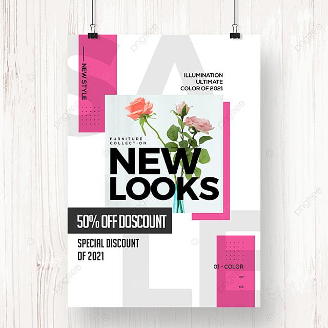 simple fashion modern geometric promotion poster