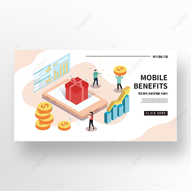 simple isometric financial data analysis creative promotion