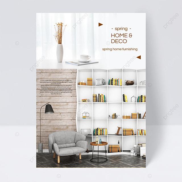 simple spring furniture flyer