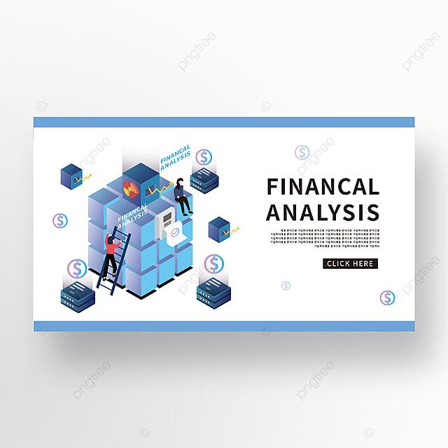technology cube creative blue gradient creative financial technology banner