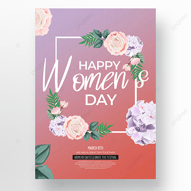 creative floral womens day festival template on gradient background