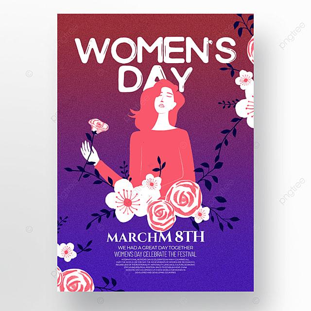 dark gradient creative womens day template