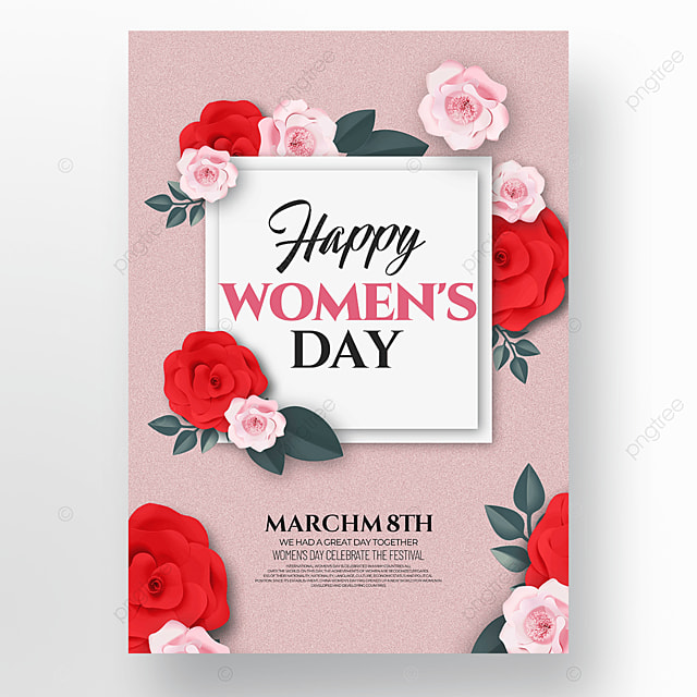 floral creative womens day template