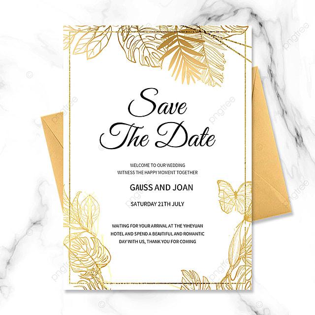 golden texture border floral wedding invitation