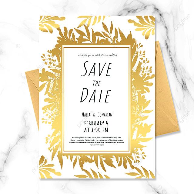 luxury golden texture wedding invitation