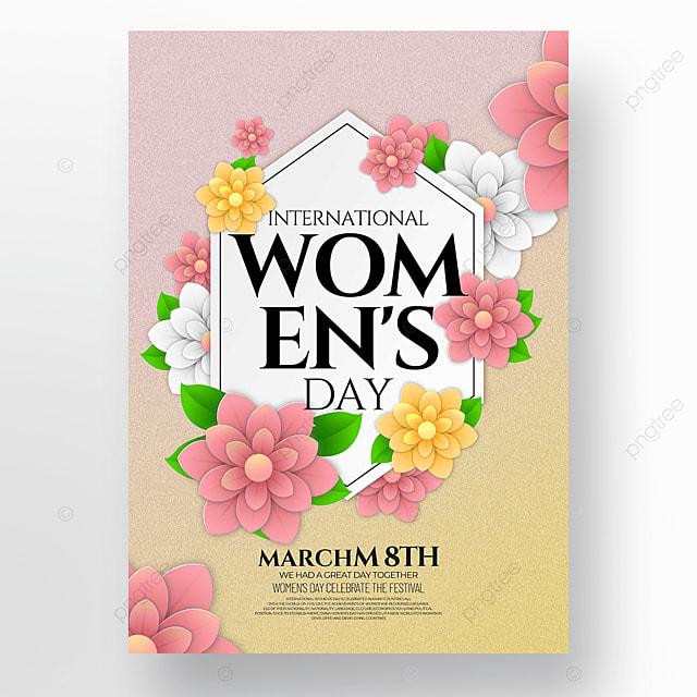 stylish floral womens day template
