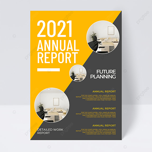 2021 trend color creative annual report flyer