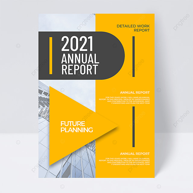 business creative 2021 trend color annual report flyer