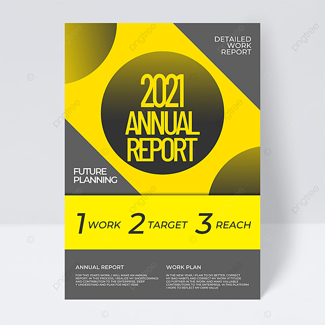 business fashion 2021 trend color annual report flyer