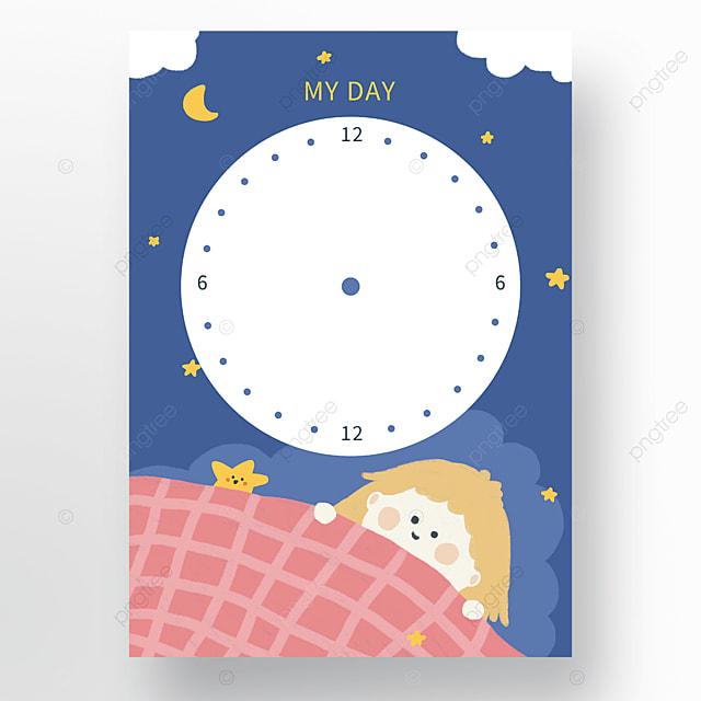 cartoon cute time schedule