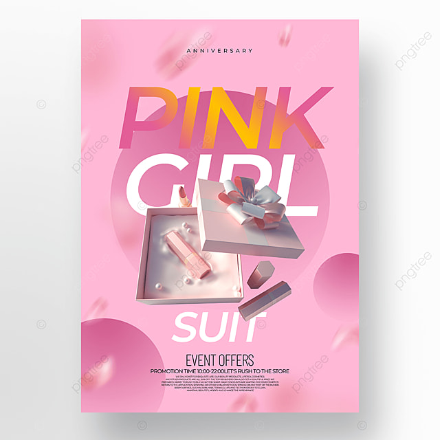 creative pink fashion cosmetics promotion promotion template