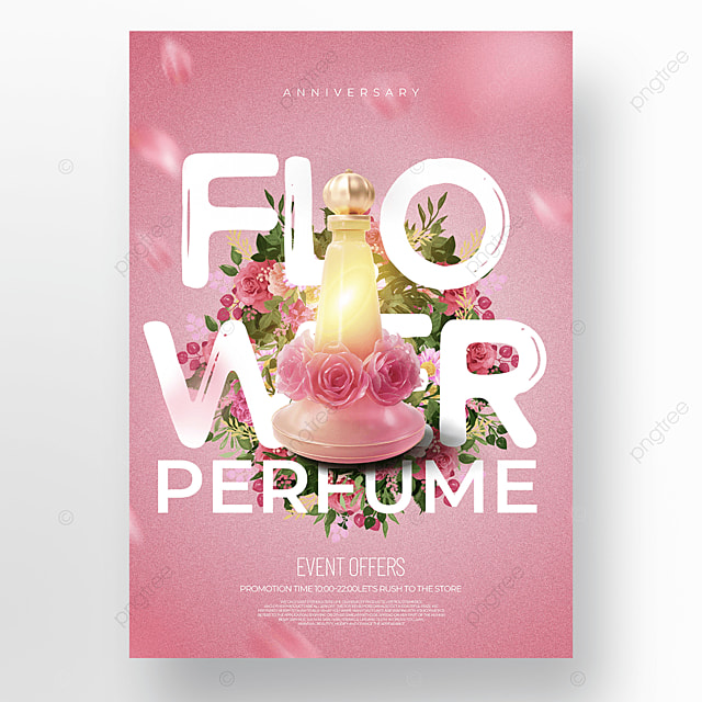 creative pink fashion exquisite cosmetics promotional template