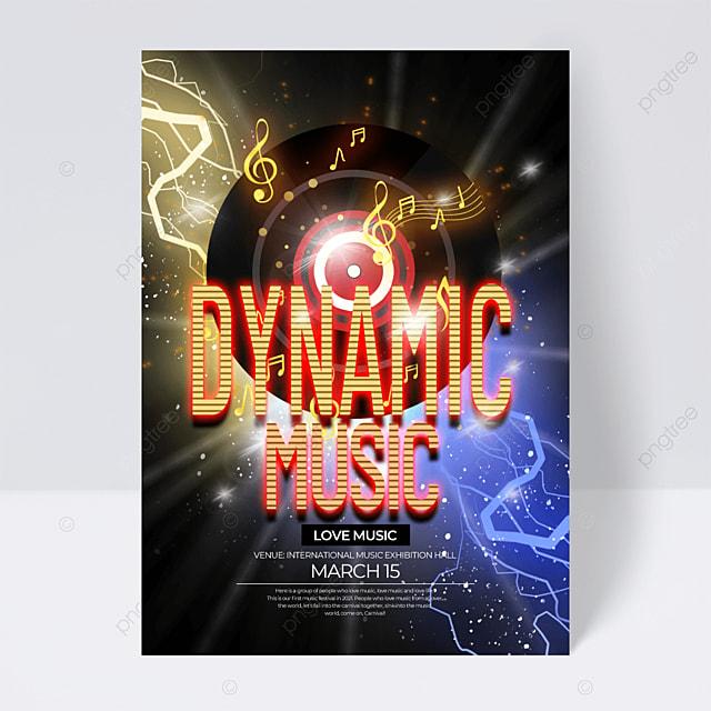 exquisite neon effect music festival flyer