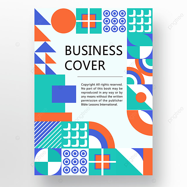 orange green blue modern simple abstract geometric business plan cover poster