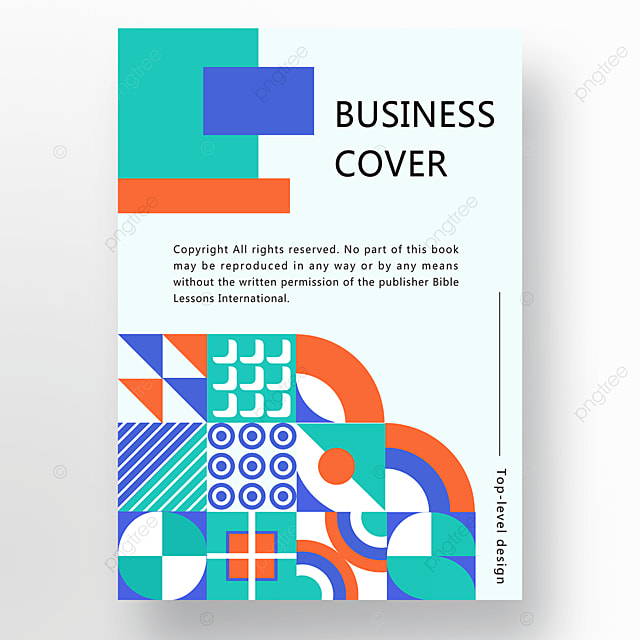 orange green blue modern stylish abstract geometric business plan cover poster