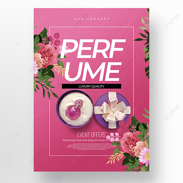 pink background fashion perfume cosmetics promotion promotion template