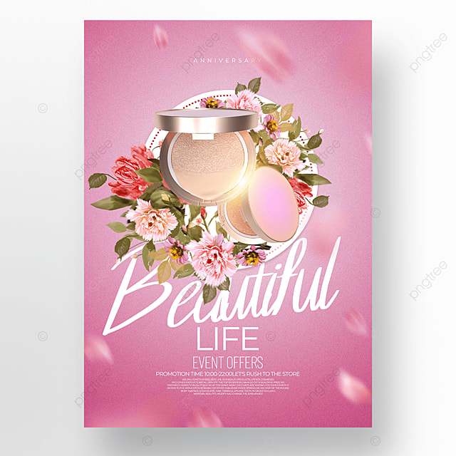 pink exquisite cosmetics promotion promotion template