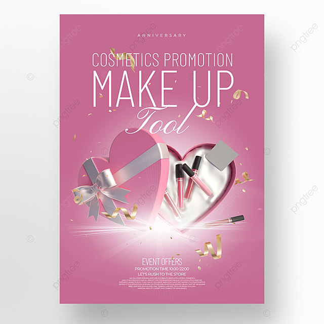 pink light effect cosmetics promotion promotion template
