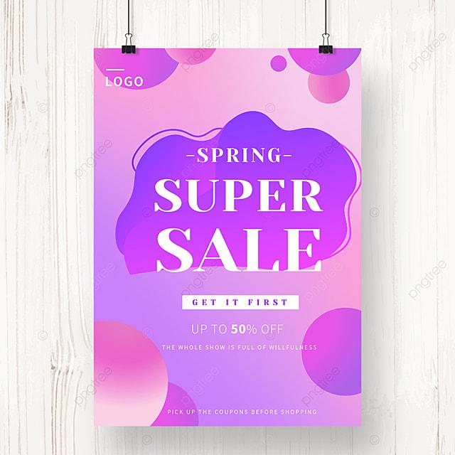 purple geometric gradient irregular shape promotion poster
