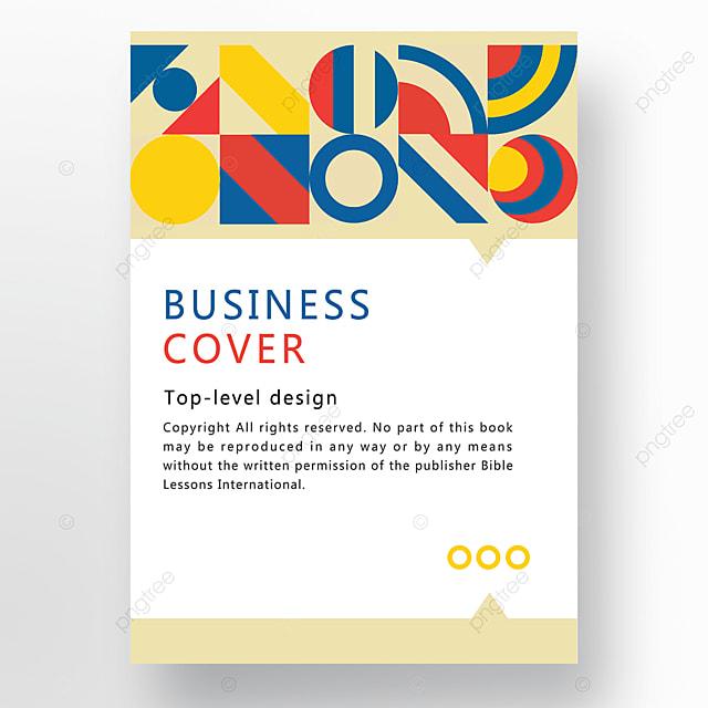 red yellow blue modern minimalist fashion geometric business plan cover