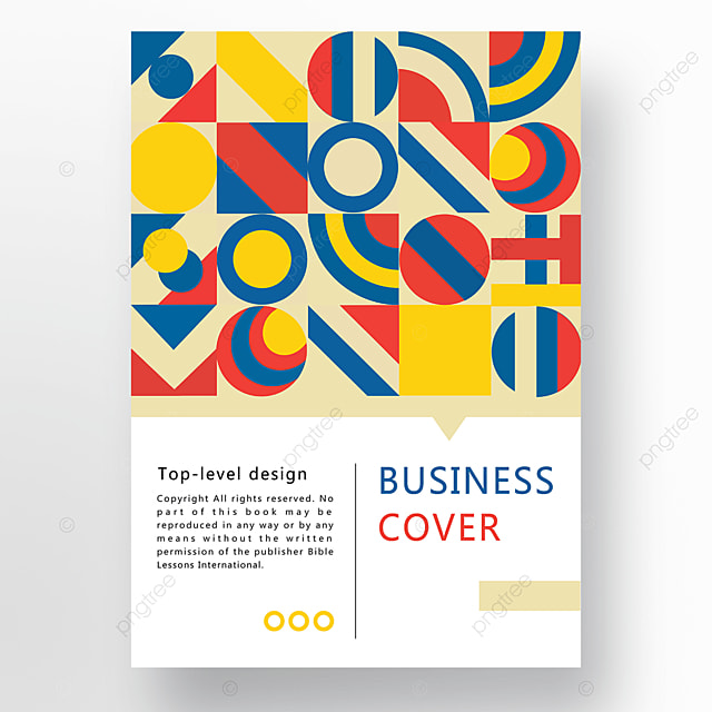 red yellow blue modern texture geometric business plan cover