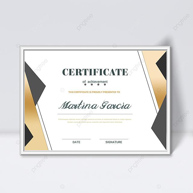 simple golden shape gradient fluid certificate template