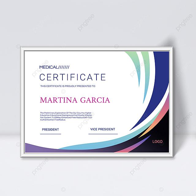 simple gradient fluid shape certificate template