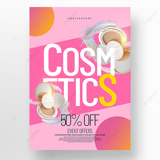 simple pink creative fashion cosmetics promotion promotion template