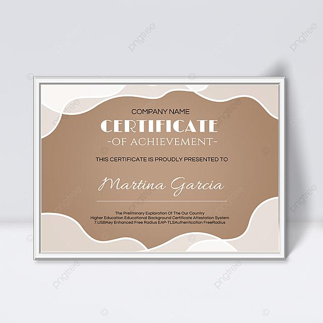 simple white shape fluid certificate promotion template