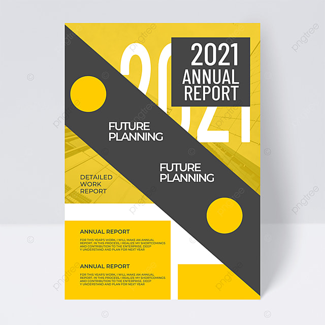 yellow background fashion creative 2021 trend color annual report flyer